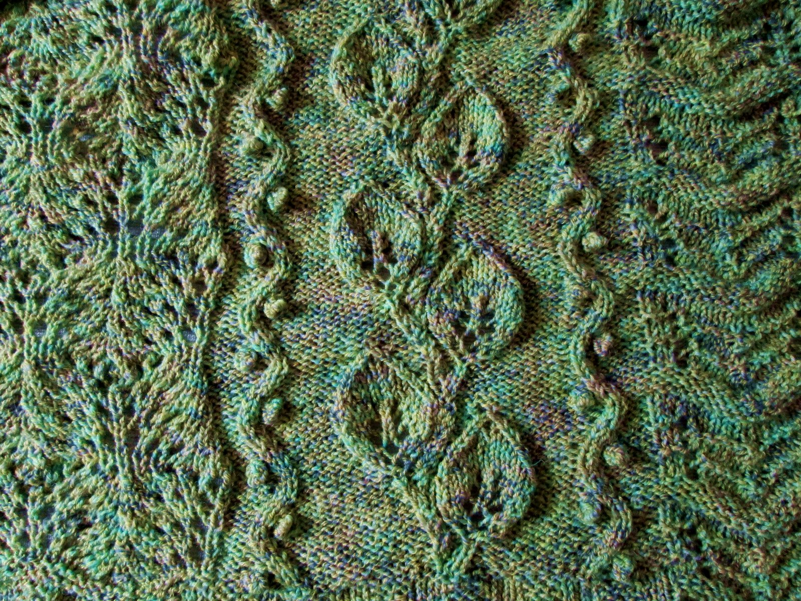 How To Knit A Leaf Pattern : Leaf Panel   Free Knitting Pattern Lemon Balm