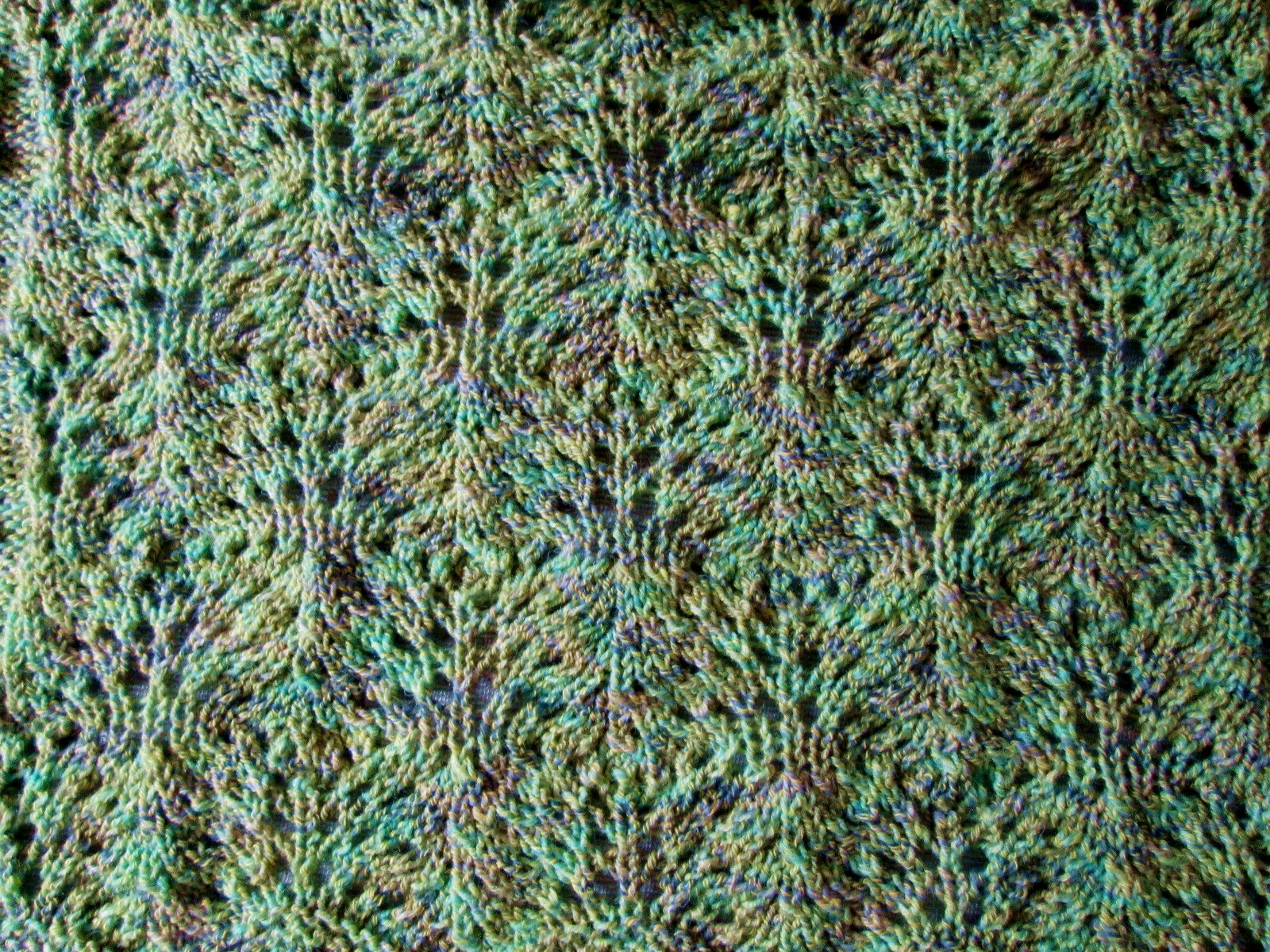 Knit Leaves Pattern : Leaf Panel   Free Knitting Pattern Lemon Balm